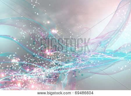 Colorful abstract background with lights and loops