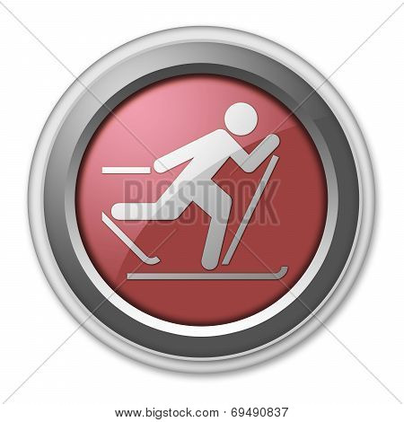 Icon, Button, Pictogram Cross-country Skiing