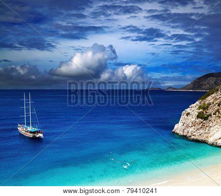 Beach Kaputas, Mediterranean Coast, Turkey