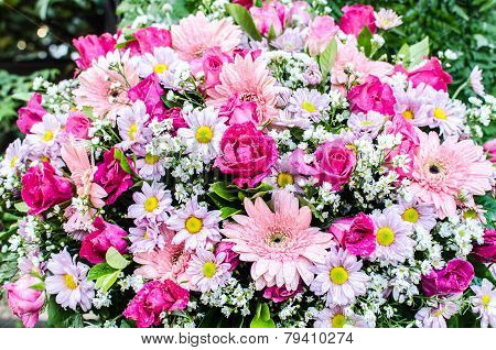 Beautiful Bouquet Of Flowers For Wedding Ceremony