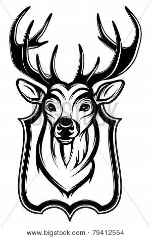 Illustration Of A Stag's Head As A Trophy