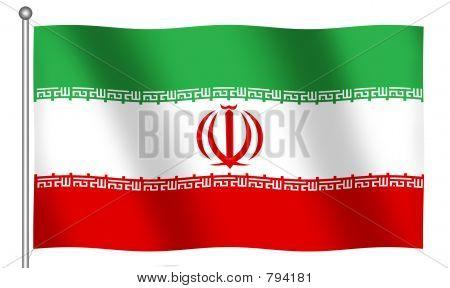 Flag of Iran Waving