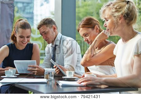 Business people cooperation in a meeting with the team group