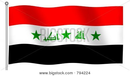 Flag of Iraq Waving