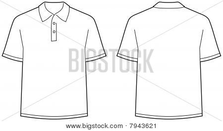 Polo shirt - front and back view