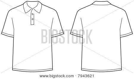 Polo-Shirt vorderen und hinteren Ansicht