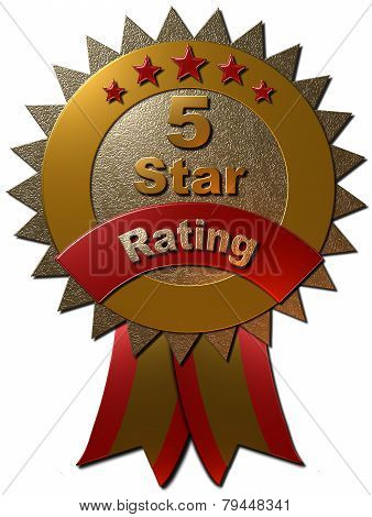 5 Star Rating Seal with ribbons