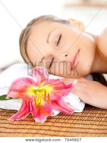 Portrait Of An Attractive Woman Having A Massage