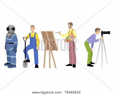 Four Professions Set
