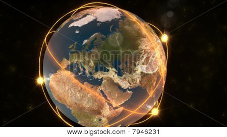 Animation Showing The Earth