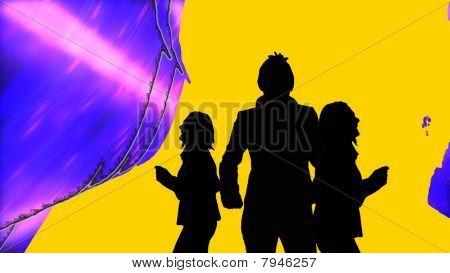 Animation Presenting Three People Dancing