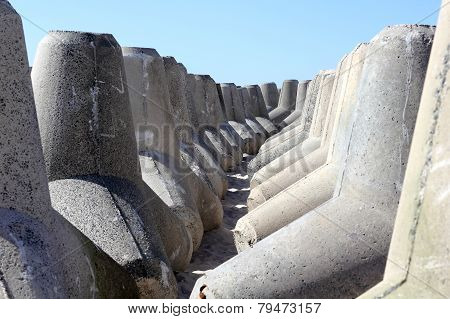 Stored Tetrapods For The Coast Protection