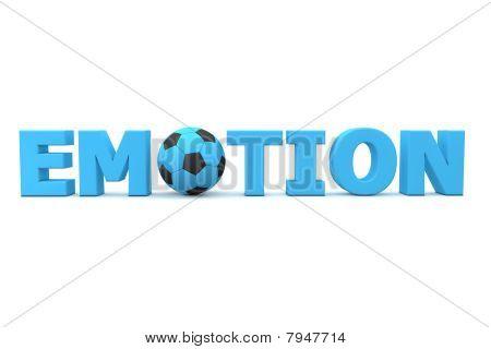 Futebol emoção azul