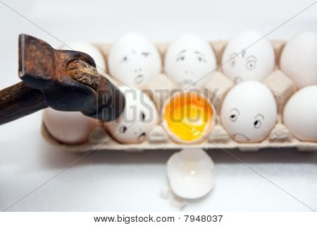 Eggs With Smile And  Hummer