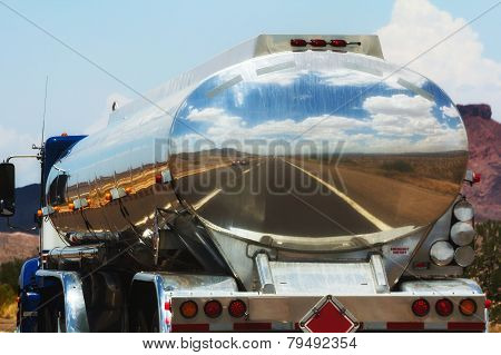 Fuel Truck On The Road
