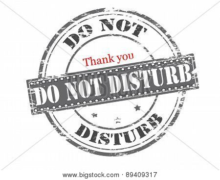 Rubber stamp with text do not disturb inside vector illustration