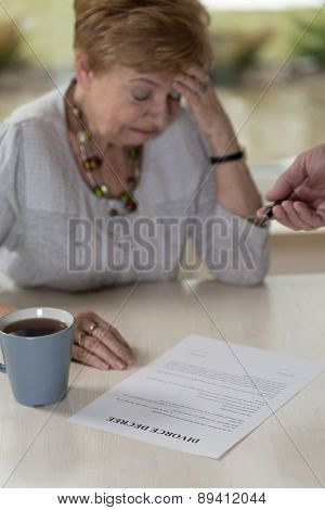 Wife And Divorce Decree