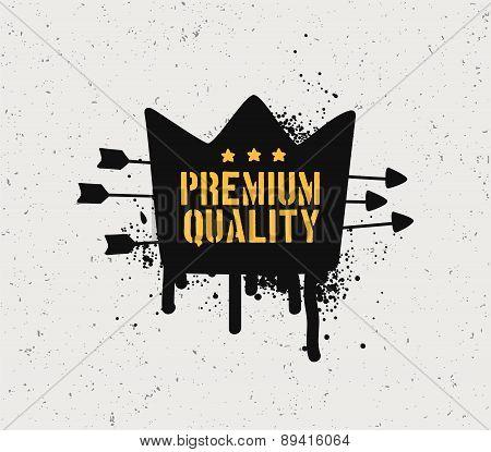 Premium quality badge.