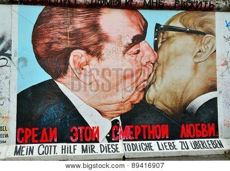 Berlin wall in Germany.
