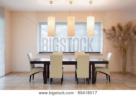 Wooden Table In Dinning Room