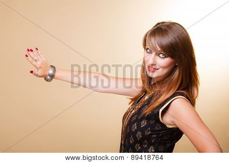 Portrait Orient Girl With Makeup And Armlet