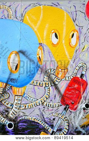 The Berlin Wall in Germany.