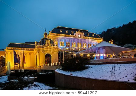 Night View On Casino In Baden Bei Wien