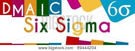 Six Sigma Colorful Stripes And Squares