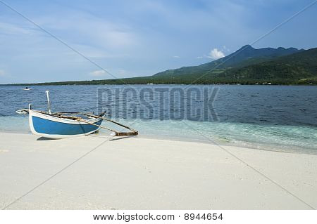 Camiguin Island Outrigger Fishing Boat