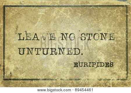 No Stone Euripides