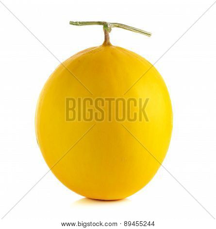 Yellow Cantaloupe Isolated On The White Background