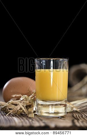 Homemade Egg Liqueur