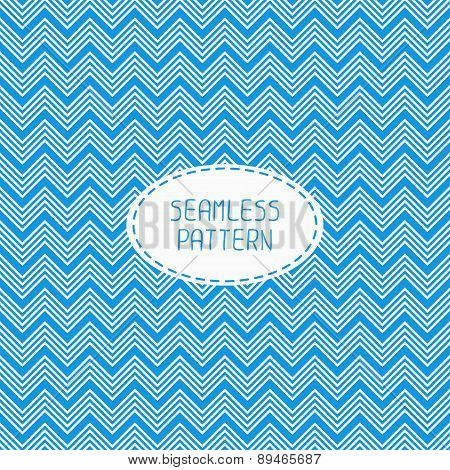 Blue geometric seamless pattern with chevron. Paper for scrapbook. Vector background. Tiling. Stylish graphic texture for your design, wallpaper. poster