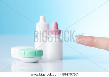 contact lenses and eye care drops