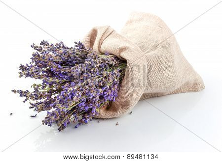 Dried Lavender In A Sack