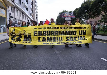 1St May Demonstration In Gijon, Spain