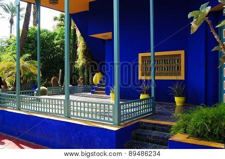 Jardin Majorelle, MARRAKECH, MOROCCO, circa APRIL 2015. It was built by Jacques Majorelle and later