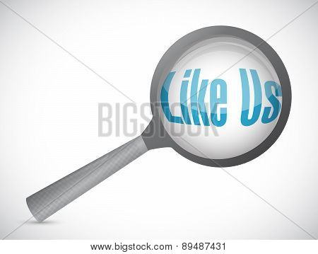 Like Us Search Sign Concept Illustration