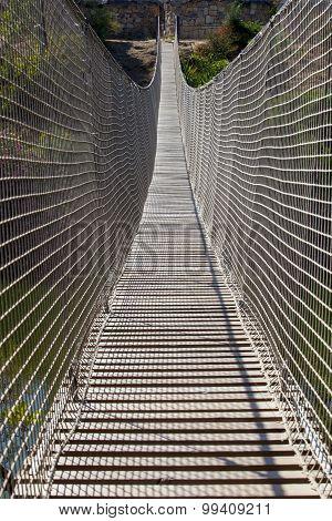 Rope And Net Suspension Bridge
