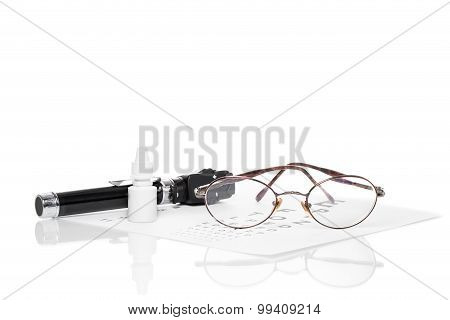 Ophthalmoscope, Eye Test And Glasses