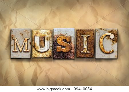 Music Concept Rusted Metal Type
