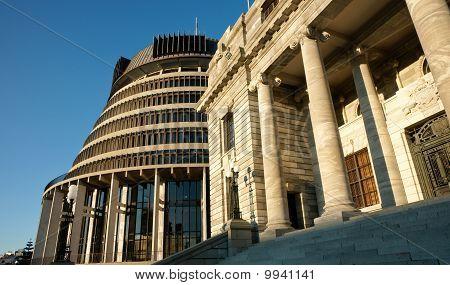 Wellington, New Zealand parliament buildiings.