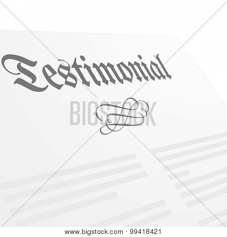detailed illustration of a Testament letter head, eps10 vector
