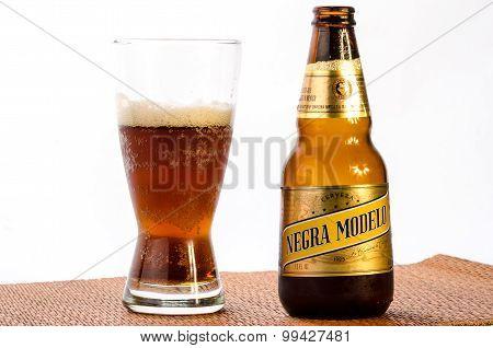 Drinking Dark Mexican Beer