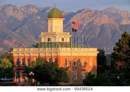 Salt Lake City Counsil Hall With Warm Evening Light, Utah