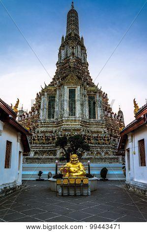 Wat Arun in Bangkok or Temple of the Down