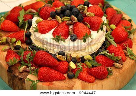 Strawberry Cheese Platter