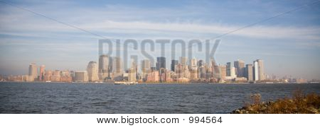 New York City Skyline In Sunset