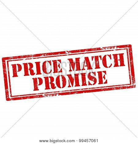 Grunge rubber stamp with text Price Match Promise,vector illustration poster