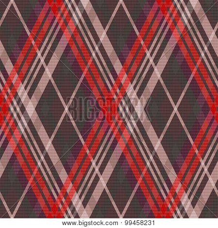 Rhombic Tartan Seamless Texture Mainly In Muted Colors